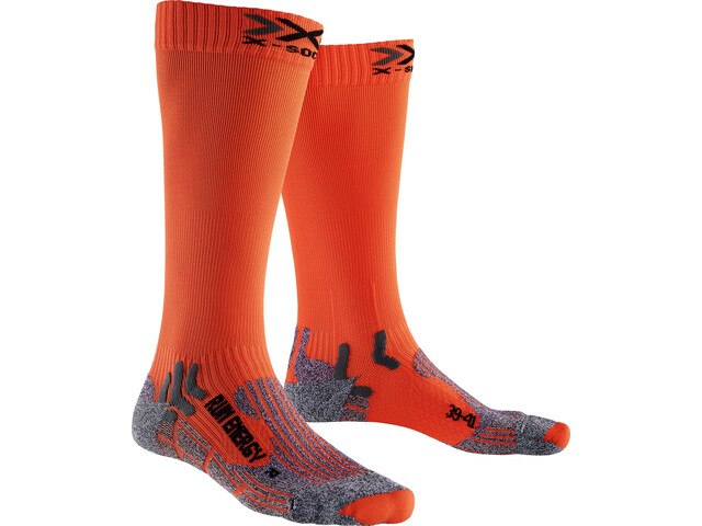 X-Socks Run Energizer Long Strømper, orange sunshine